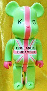 MEDICOM TOY Bearbrick 400% Jon Savage KEANAN DUFFTY England Dreaming version Block Figure Rare Item Green