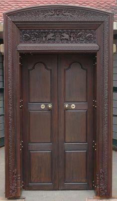 Wooden Main Door Design With Price Main Door Design Photos, Main Entrance Door Design, Wooden Front Door Design, Room Door Design, Wooden Doors, House Design, Front Design, Single Front Door Designs, Double Door Design