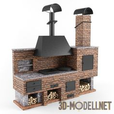 Attributes In Bbq Grilles Purchasing – Outdoor Kitchen Designs Backyard Kitchen, Summer Kitchen, Outdoor Kitchen Design, Pizza Oven Outdoor, Outdoor Cooking, Brick Bbq, Diy Grill, Barbecue Grill, Built In Grill