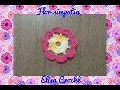 Blusa flor simpatia em crochê(1ª parte ) # Elisa Crochê - YouTube