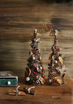 Купить Новогодний интерьер. Эко-елка настольная. 32 см - интерьерное украшение, интерьерная композиция