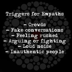 Crowds is so real Empath Traits, Intuitive Empath, Psychic Empath, Life Quotes Love, Me Quotes, Wisdom Quotes, Intuition, Empath Abilities, Bien Dit
