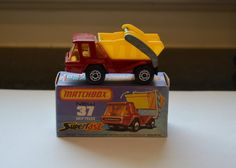Vintage Matchbox Lesney Superfast No 37 Skip Truck With Box