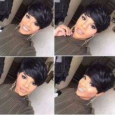Super cute! @sugarhill_one ✨✨ | #thecutlife #pixie #bangs #selfies #shorthair #pixiecut
