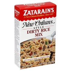 Zatarain's GLUTEN-FREE Original New Orleans Style DIRTY RICE MIX 8oz (4 pack) * For more information, visit image link.