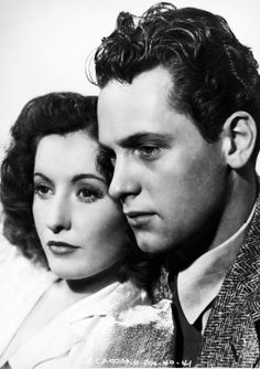 GOLDEN BOY (1940) - Barbara Stanwyck & William Holden - Paramount Pictures - Publicity Still.