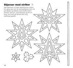 Nye Juleklip i karton - Claus Johansen Paper Cutting Patterns, Christmas Cards, Xmas, Disney Coloring Pages, Kirigami, Paper Crafts, Templates, Album, Snowflakes