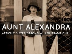 Chapter 13: Aunt Alexandra comes to stay at the house for a while. She believes Scout needs a female influence to follow. Scout is not fond of Aunt Alexandra all up in her business and getting between her and Atticus. Atticus starts to act oddly when Aunt Alexandra comes around. Jem and Scout did not know a lot about the Finch family history. Aunt Alexandra is bothered by this and Atticus makes an effort to inform the kids about what a Finch is.