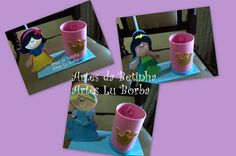 Artes da Betinha: Centro de mesa - Princesas fofas.