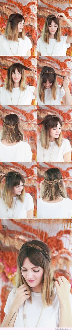Simple and wonderful hair tutorial with braids