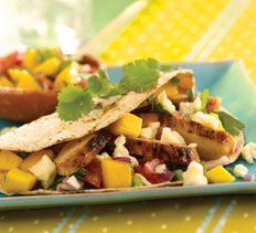 Chipotle Chicken Tacos with Mango Salsa