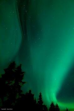 Auroras Boreales desde Juneau, Alaska.-