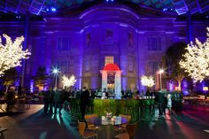 Private event at the Kogod Courtyard at the National Portrait Gallery in Washington, DC; decor by Syzygy Event Productions  www.SyzygyEvents.com  www.Facebook.com/SyzygyEventProductions