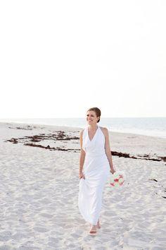 BCBG beach wedding dress.