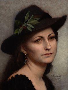 "Louise Camille Fenne (Danish, b. 1972) - ""Girl in a Fedora"", 2009"