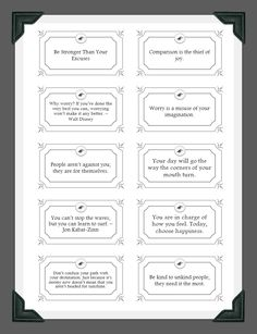 Pocketful of Pep Talks (printable pep talk cards you can keep in your purse)