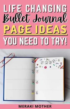 Become a bullet journal pro with these life-changing bullet journal page ideas you need to try! #bulletjournapageideas #bujo #planneraddict Bullet Journal Legend, Bullet Journal Vision Board, Bullet Journal Starter Kit, Bullet Journal Index, Creating A Bullet Journal, Bullet Journal For Beginners, Bullet Journal Monthly Spread, Bullet Journal Tracker, Bullet Journal How To Start A