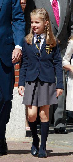 Leonor received no special distincinción not wearing ceremonial dress if the dress uniform school: Semana
