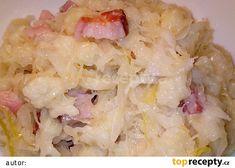 Halušky se zelím a slaninou recept - TopRecepty.cz Potato Salad, Cabbage, Recipies, Potatoes, Pasta, Treats, Vegetables, Cooking, Aloe