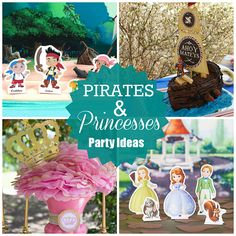 Pirate and Princess Party Ideas! Fun ideas for candy at a Hello Summer Surf Party found via Kara's Party Ideas Joint Birthday Parties, Birthday Party Themes, Birthday Ideas, Themed Parties, Pirate Birthday, Pirate Party, 3rd Birthday, Disney Princess Party, Princess Birthday