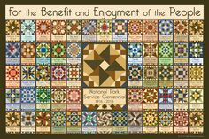National Park Service Centennial Quilt Block 2 - 52 parks designed by Susan Davis. Susan is the owner of Olde America Antiques and American Quilt Blocks She has created unique quilt block designs to celebrate the National Park Service Centennial in 2016. These are the first quilt blocks designed specifically for America's national parks and are new to the quilting hobby.