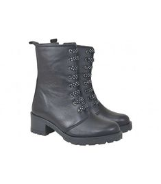 Leather Boots, Combat Boots, Bootie Boots, Wedges, Booty, Shoes, Fashion, Moda, Swag