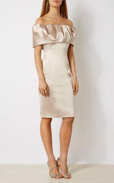 OFF-THE-SHOULDER PENCIL DRESS