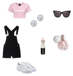 """Classy playtime"" by paigeoctober on Polyvore featuring adidas Originals, Christian Dior, Kobelli and Boohoo"