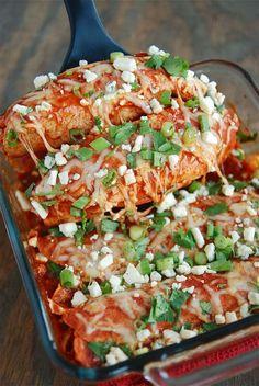 Buffalo Enchiladas (recipe via thenovicechefblog.com)