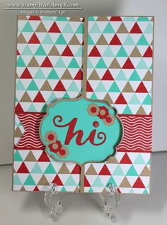 Label Card Thinlits Extended Flip Card & Introducing Project Life by Stampin' Up! - Stamp With Amy K Send A Card, I Card, Homemade Greeting Cards, Interactive Cards, Flip Cards, Card Making Inspiration, Crafty Projects, Scrapbook Cards, Scrapbooking