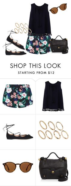 """Untitled #375"" by charlotte-down on Polyvore featuring New Look, Violeta by Mango, Salvatore Ferragamo, Pieces, Ray-Ban and See by Chloé"