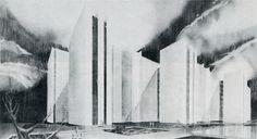 Manuel Gonzalez Rul y Agustin Hernandez Navarro. México City, Mid Century, Architectural Drawings, 1960s, Villa, Design, Modern Living, Trendy Tree, Black N White