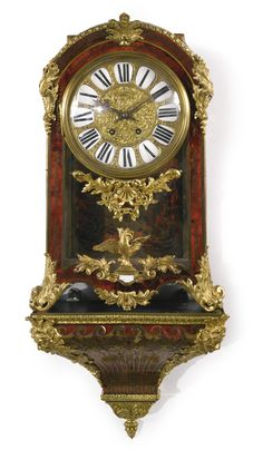 A Louis XIV style ormolu-mounted brass and tortoiseshell-inlaid cartel clock late 19th century, signed E. Gübelin Lucerne