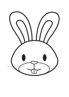 Kleurplaat konijn   Coloring page rabbit / bunny   Coloriage Tête de lapin