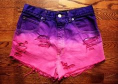 High waisted ombré shorts  from Rebornstyle