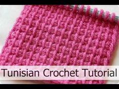 How to crochet Tunisian Knit Stitch (TKS) | tunisian crochet tutorial ♥ CROCHET LOVERS - YouTube