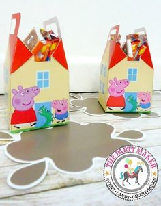 Peppa Pig packaging party - party favors CANDY by #thepartymaker  instagram@partymbb
