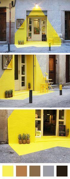 Une idée lumineuse pour attirer l'attention sur la devanture de ce petit restaurant ! #dccv #colors #idee