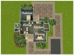 Floor plan Sims 3 Houses Ideas, Sims 4 Houses Layout, Tiny House Layout, House Layouts, House Ideas, Sims Ideas, Sims 4 House Plans, Sims 4 House Building, Home Building Design