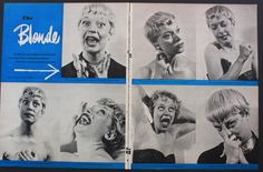 Carol Channing Comedian 2 Page Funny Face Photo Shoot Magazine Print 1950