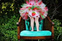 Baby Tutu Strawberry Sweetness Birthday Tutu by HannahsTutus, $20.00