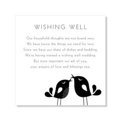 Non tacky wishing well poems and sayings asking for money politely wishing well for wedding situations when a normal gift registry wont work filmwisefo