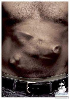 La marca francesa optó por un mensaje de alto impacto para su producto que alivia la acidez estomacal, con este impresionante anuncio