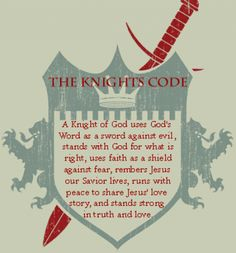 Knights of code- and/or use the idea of the shield and adapt each day with the daily scripture??