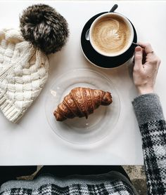 agentlewoman:  Finally able to leave my apartment and dig out my car. A well deserved cappuccino and croissant is in order. (at The Other Brother Coffeehouse) || @agentlewoman on Instagram