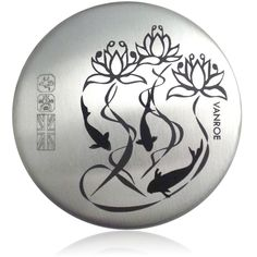 Vanroe 'Waterlily & Koi' Designer Pocket Mirror in Gift Box - 100% British Made, Silver Pewter, Luxury 'good luck' leaving present idea: Amazon.co.uk: Compact Mirror, Carp!