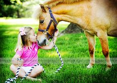 precious. girl and pony #photography. i would love to get a shot like this for my daughter.