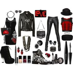 """F*ck off, I'm hot~†*¤°•."" by goth-dolly on Polyvore"