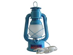 """Lampe de chevet """"tempête"""" électrique 40W """"Bleu Mer du Sud"""" - Guillouard"""