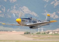 P-51 coming in low